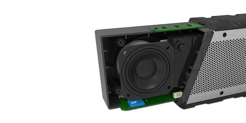 BRV-HD có 4 drivers, trong đó có 2 drivers thụ động để tạo ra âm trầm.