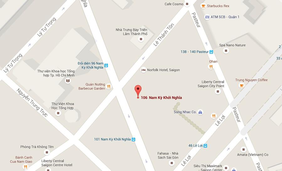 Vị trí nằm gần ngay ngã tư Nam Kỳ Khởi Nghĩa và Lê Thánh Tôn, đi từ đường nào vào cũng thuận tiện