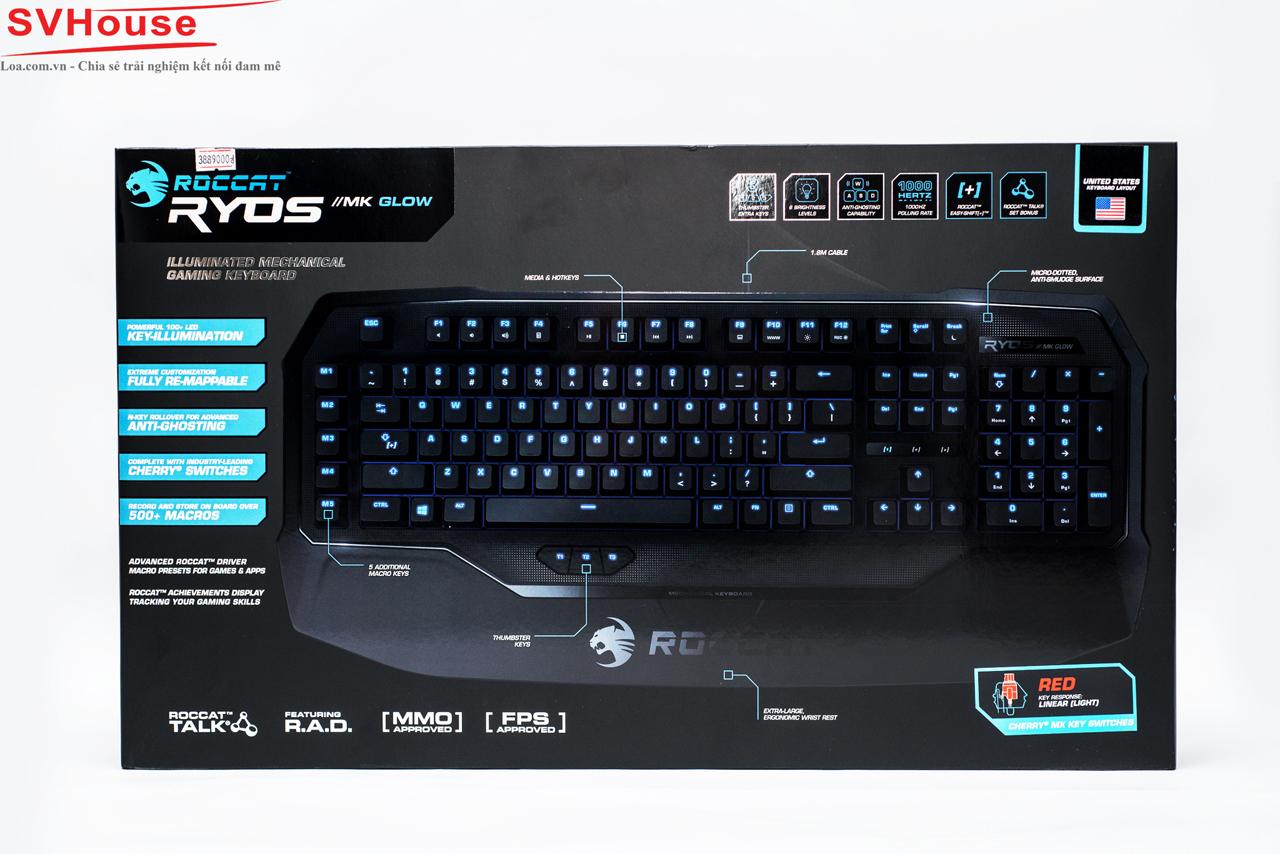 Hộp vỏ ngoài cung cấp các tính năng nổi bật của chiếc Ryos MK Glow