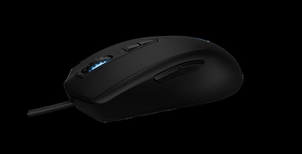 Ngoài 2 nút bấm mặt bên trái của chuột thì Avior 7000 còn có 2 nút chính DPI tức thời khi đang chơi game ngay gần nút cuộn chuột