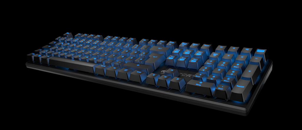 Các phím được trang bị đèn led màu xanh tuyệt đẹp