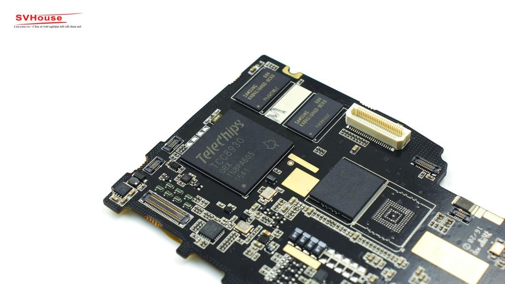 Bộ xử lý Telechips dùng để chạy hệ điều hành android tối giản.