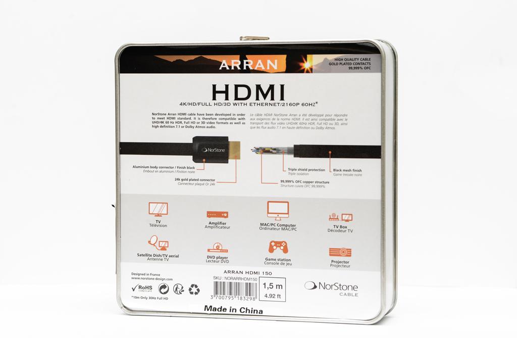 NORSTONE ARRAN CABLE HDMI 150 -2