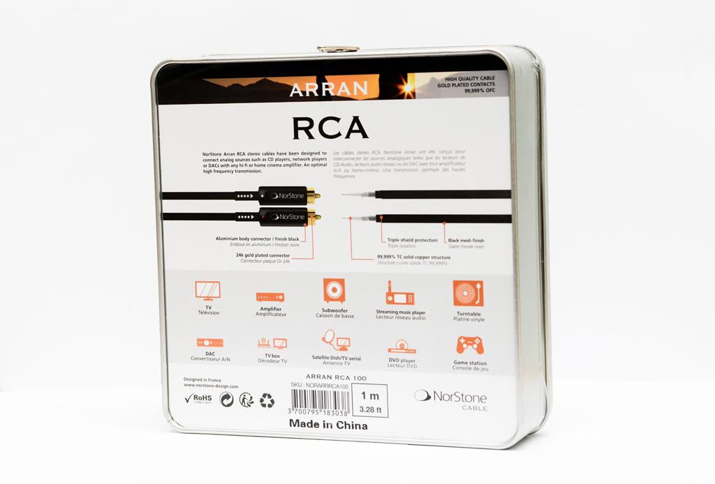 NORSTONE ARRAN CABLE  RCA 100 -2