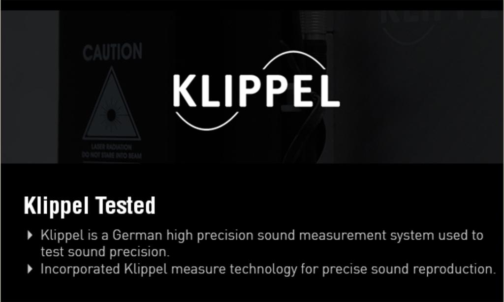 sử dụng hệ thống đo âm thanh chính xác cao của Đức bởi Klippel để kiểm tra khả năng táo tạo chính xác âm thanh của bộ loa S350DB