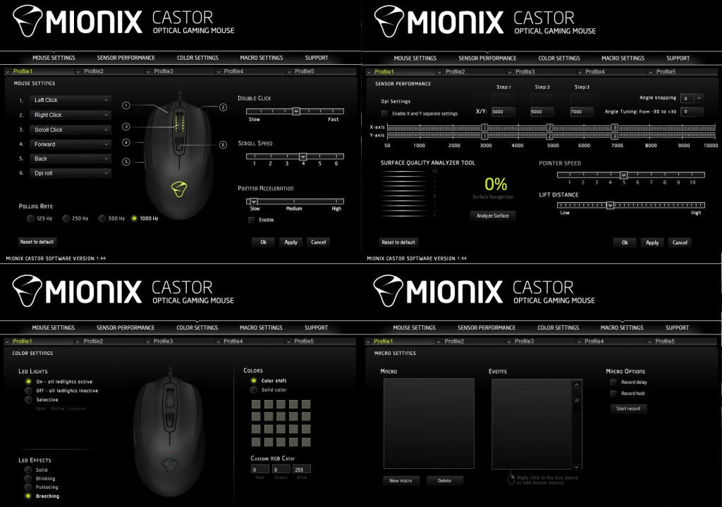 Mionix-Castor-Software