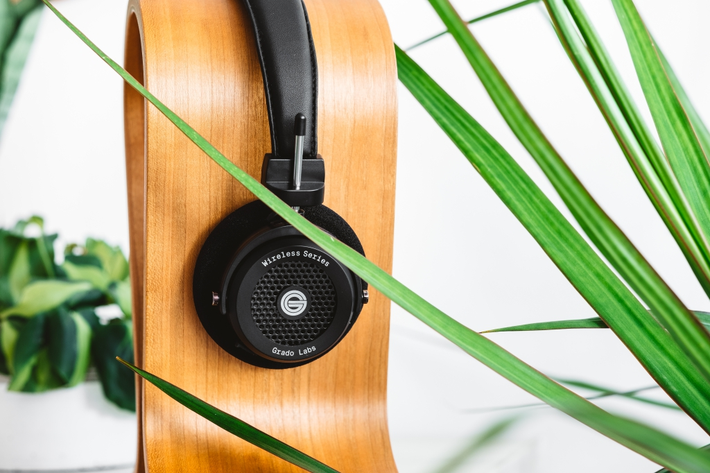 grado, grado labs, grado headphones, sunset park, brooklyn, brooklyn headphone company, three generations of sound, GW100, wireless, bluetooth, snake plant, brasil plant, green, leaves, mirror, west elm, pottery barn, luella bar cabinet